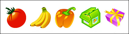 Cartoon style icon png fruit diet