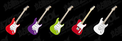 Electric guitar series icon png
