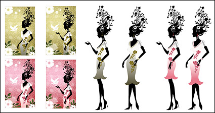 Link toFlower and beauty vector material-2