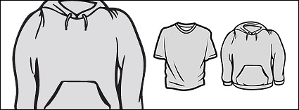 The trend of long-sleeved t-shirt material vector