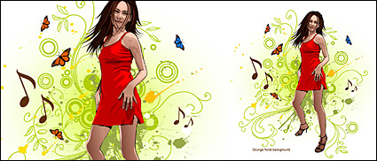 Link toWomen and pattern vector-8