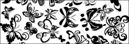 Link toBlack and white butterfly element vector