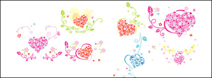 Link toLovely heart-shaped pattern composed of vector logo
