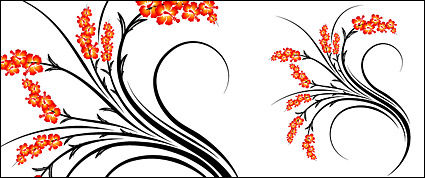 Link toFashion flower vector material