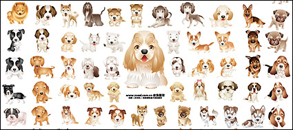 Link toPuppy dog vector material