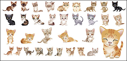 Link toLovely small cat vector material