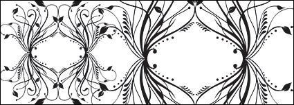 Link toFashion black-and-white pattern element vector material