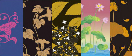 Link toVector traditional pictorial series  2-flower plants