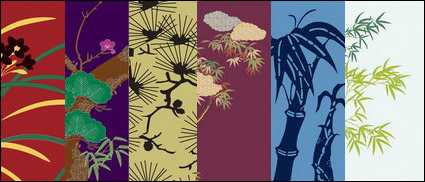 Link toVector traditional pictorial series  4-flower plants