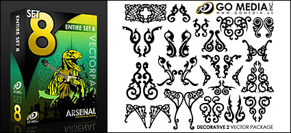 Go media produced vector material (set8) – classical pattern