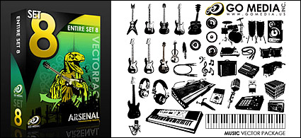 Go media produced vector material (set8) – musical instruments