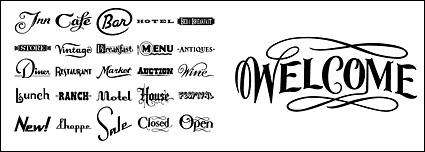 Link toEnglish common vector font design material